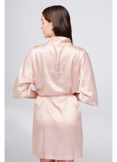 0df3189bf9 Rhinestone Maid of Honor Satin Robe - Wedding Gifts   Decorations