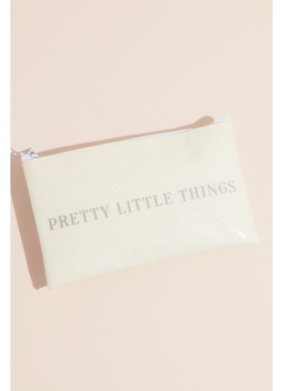 Pretty Little Things Sparkly Cosmetic Bag - Printed with the phrase