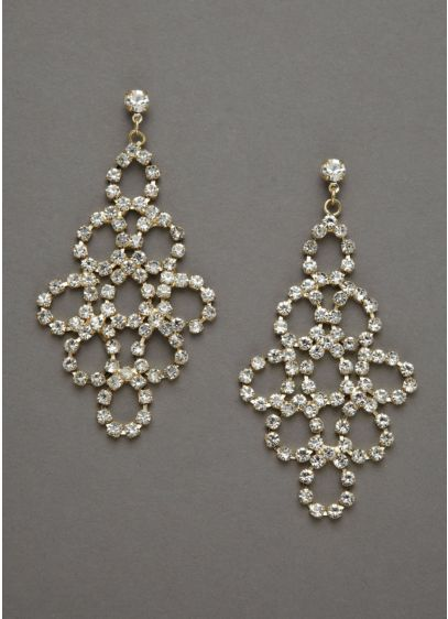 Bold Crystal Dangle Earrings Wedding Accessories