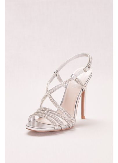 David's Bridal Grey (Strappy Crystal Embellished High Heel Sandals)