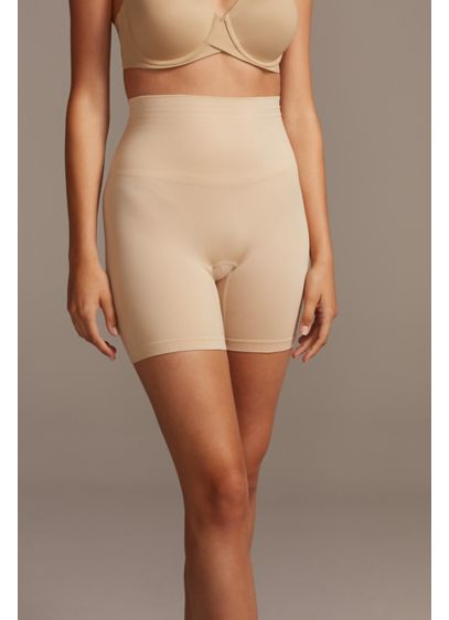 Maidenform Beige (Maidenform Mid Rise Upper Thigh Shapewear Shorts)