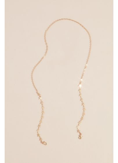 Gilded Star Face Mask Chain - Wedding Accessories