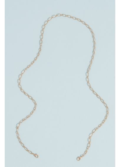 Gilded Oval Link Face Mask Chain - Wedding Accessories