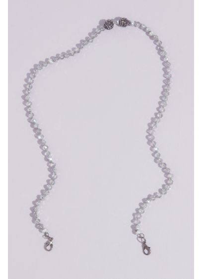 Faceted Crystal Bead Face Mask Chain with Accents - Wedding Accessories