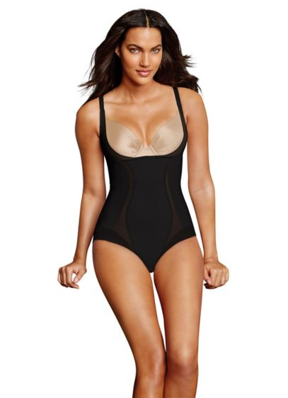 Maidenform Firm Foundations Open Bust Bodybriefer - The firm control and power-mesh lining of this