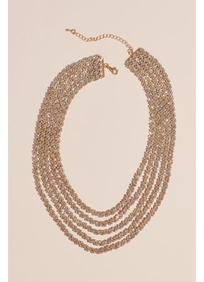 Natasha Grey (Dangling Crystal Chains Layered Necklace)