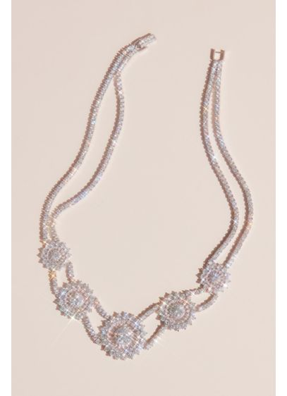 Natasha Grey (Double Strand Crystal Medallion Necklace)