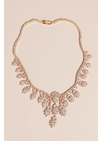 Brilliant Crystal Daisy Necklace - Wedding Accessories