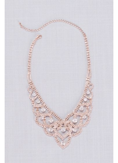 Looping Crystal Tiara Necklace - Crystal-encrusted loops and twirls give this regal necklace