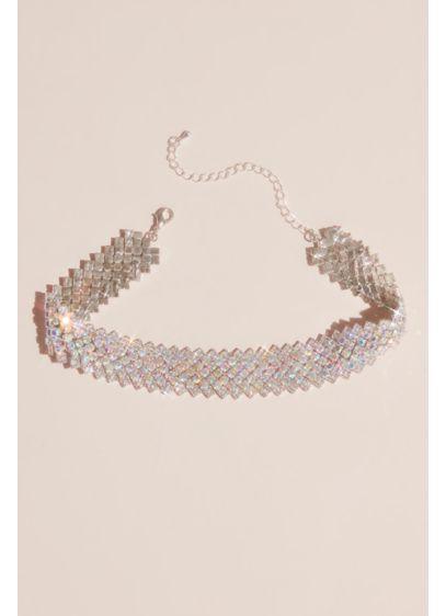 Natasha Multi (Crystal Diagonal-Cut Choker Necklace)