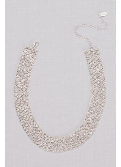 David's Bridal Grey (Pave Halo Cubic Zirconia Link Necklace)