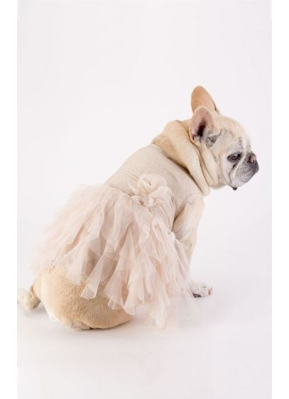Gold Glitter Ruffled Tulle Skirt Dog Dress - Wedding Gifts & Decorations