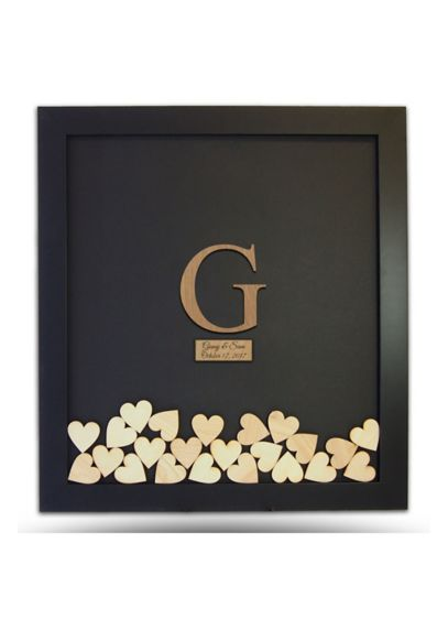 Pers Wooden Letter Drop Heart Guest Book Frame Davids Bridal