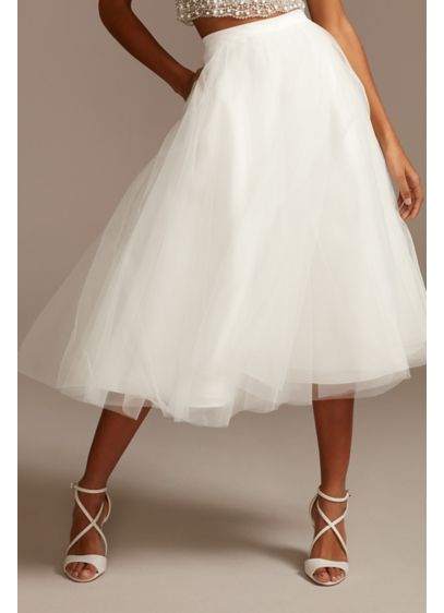 Tulle Wedding Separates Midi Skirt with Pockets - Layers of tulle create a fun, full A-line