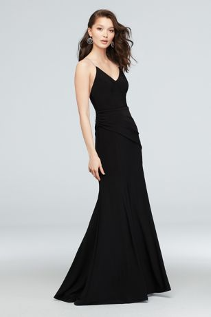 Long Mermaid/ Trumpet Spaghetti Strap Dress - DB Studio