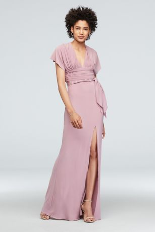 Long Sheath Short Sleeves Dress - DB Studio