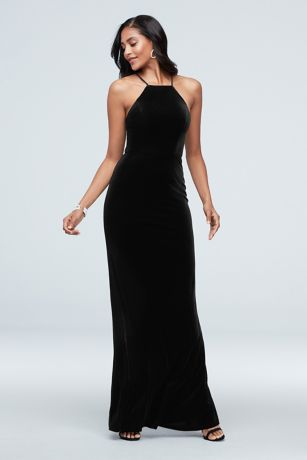 Long Mermaid/ Trumpet Halter Dress -