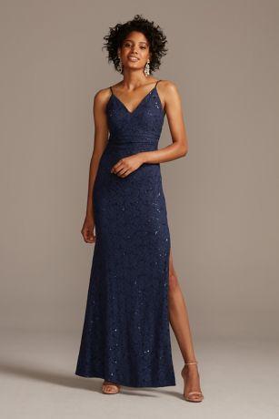 Soft & Flowy;Structured DB Studio Long Bridesmaid Dress