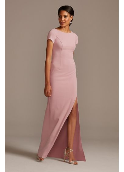 Long Pink DB Studio Bridesmaid Dress