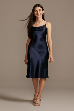 Soft & Flowy DB Studio Midi Bridesmaid Dress