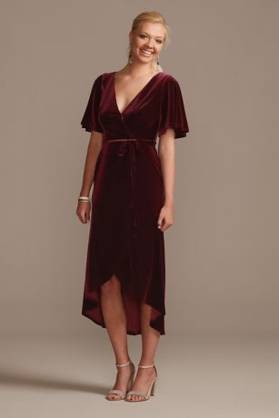 Soft & Flowy;Structured DB Studio Midi Bridesmaid Dress