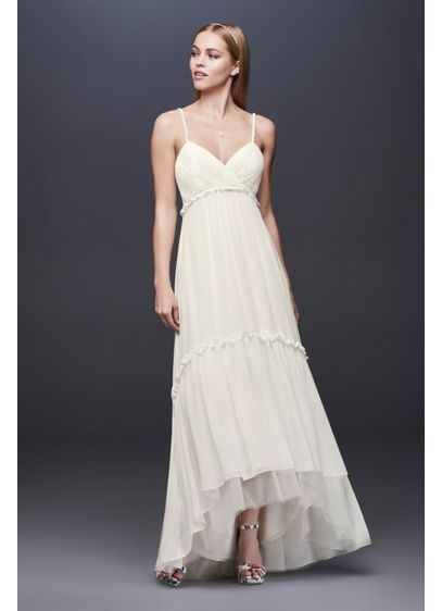 High Low Sheath Boho Wedding Dress - DB Studio