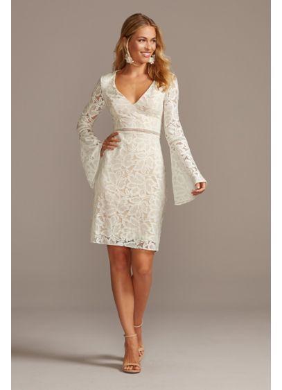 Short Sheath Beach Wedding Dress - David's Bridal