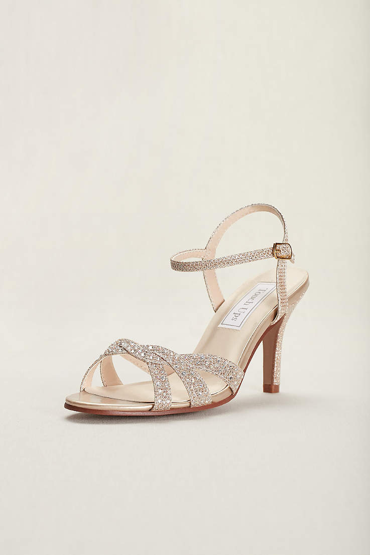 df8741c54c Champagne Shoes: Heels, Flats and Sandals in Champage Gold | David's ...