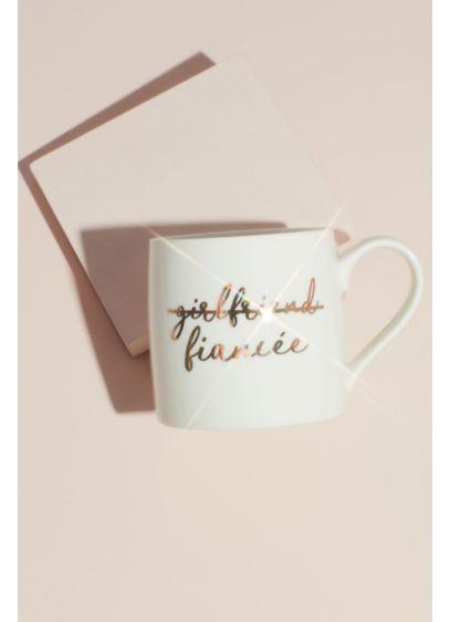 White (Metallic Script Fiance Ceramic Mug)
