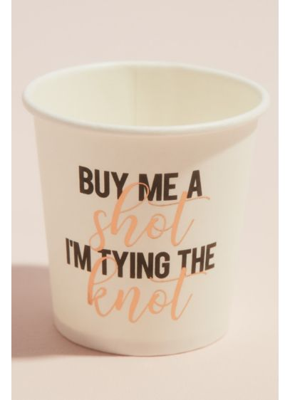 White (Buy Me A Shot Tying The Knot Shot Glass Set)