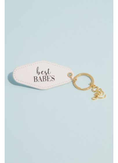 Best Babes Bridesmaid Hotel Style Key Ring - Taking inspiration from vintage hotel room keys, this