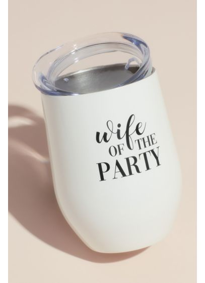 White (Wife of the Party Insulated Steel Wine Tumbler)