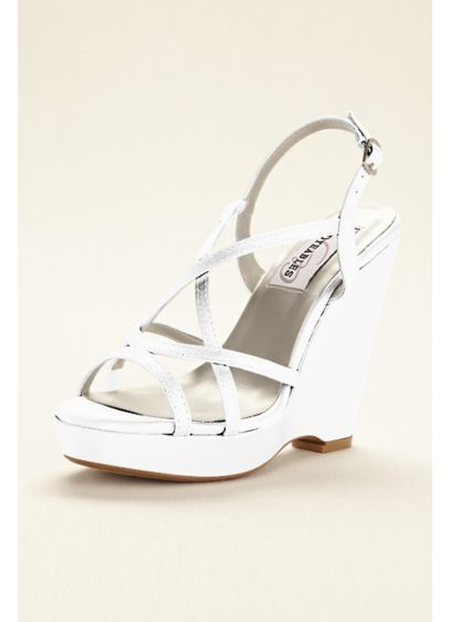 Dyeable Platform Wedge Sandal - This classic dyeable strappy wedge platform sandal proves