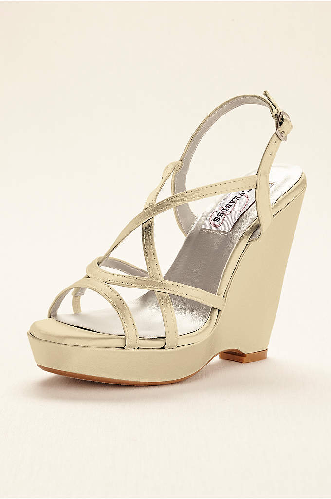 Dee Glitter Platform Wedge Sandal - This classic strappy wedge platform sandal by Dyeables