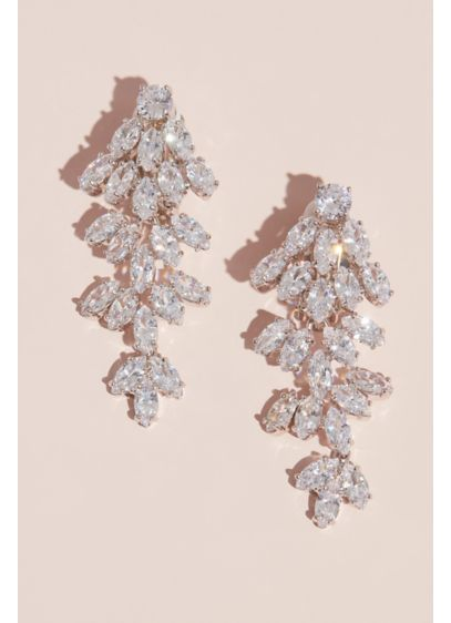 Marquise Crystal Cubic Zirconia Clip-On Earrings - Wedding Accessories