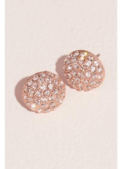 Pave Swarovski Crystal On Stud Earrings David S Bridal