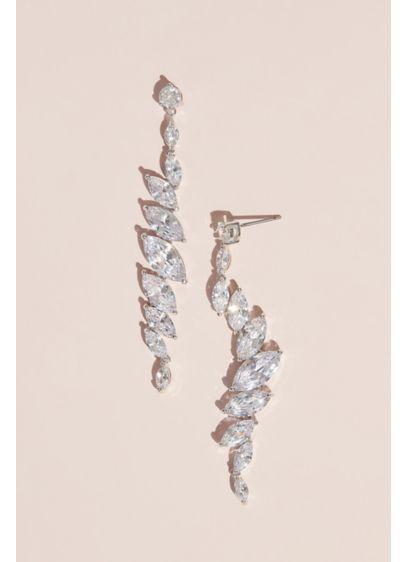 Nina Grey (Angled Marquise-Cut Cubic Zirconia Crystal Earring)