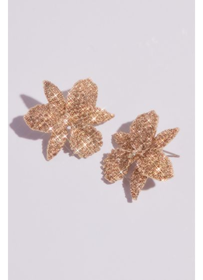 Pave Orchid Earrings - Wedding Accessories