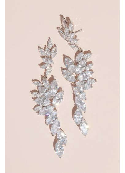 Bursting Marquise-Cut Cubic Zirconia Drop Earrings - For earrings that make an oh-so elegant statement,