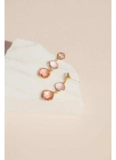 Three Tier Crystal Drop Earrings - Wedding Accessories