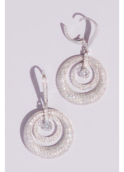 Domed Swarovski Crystal Pave Hoop Earrings - This beyond sparkly pair of Swarovski crystal drop