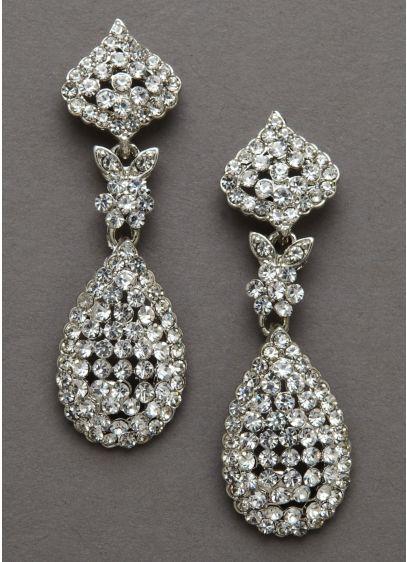 David's Bridal Grey (Tear Drop Crystal Swing Earrings)