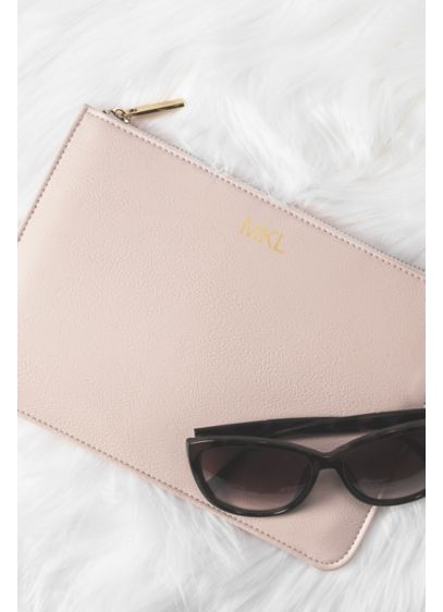 Personalized Embossed Vegan Leather Clutch - The Personalized Vegan Leather Clutch is perfect for