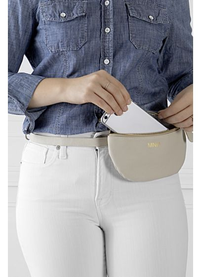 Personalized Vegan Leather Belt Bag - The Personalized Vegan Leather Belt Bag is perfectly