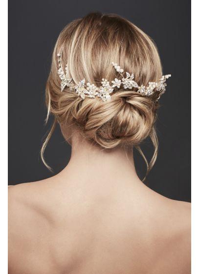 Pearl Grape Clusters Hair Vine - Wedding Accessories