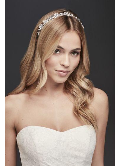 Bliss Designs Grey (Flexible Crystal Flower Headband)