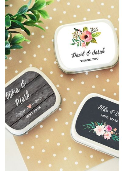 Personalized Floral Garden Mint Tins - Wedding Gifts & Decorations