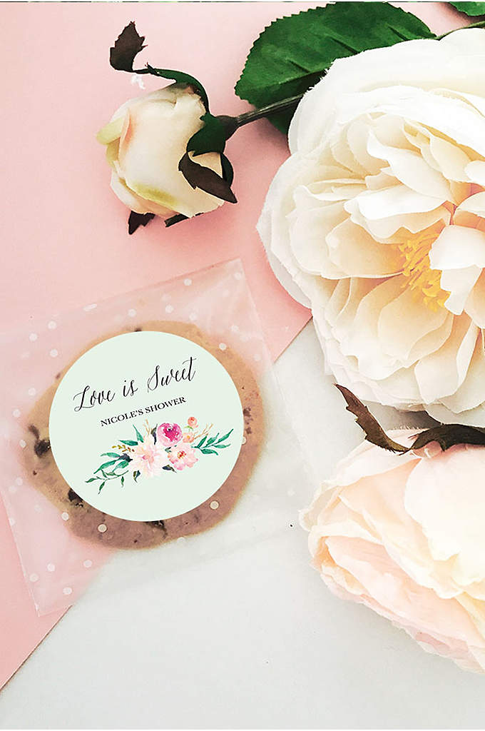 Personalized Floral Garden Round Labels - Jazz up just about any favor, wedding welcome