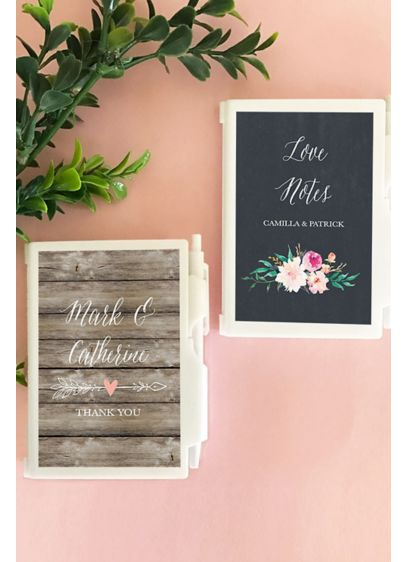 Personalized Floral Garden Notebook Favors - Personalized Floral Garden Notebooks with a beautiful floral