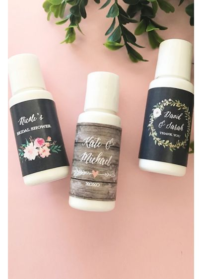 Personalized Floral Garden Sunscreen - Give these Personalized Floral Garden Sunscreen favors to